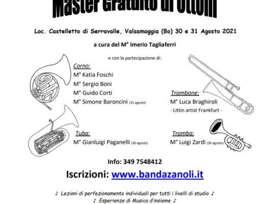 Thumbnail for the post titled: Master gratuito di Ottoni 30-31 agosto 2021